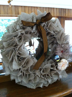Burlap Wreath daylight