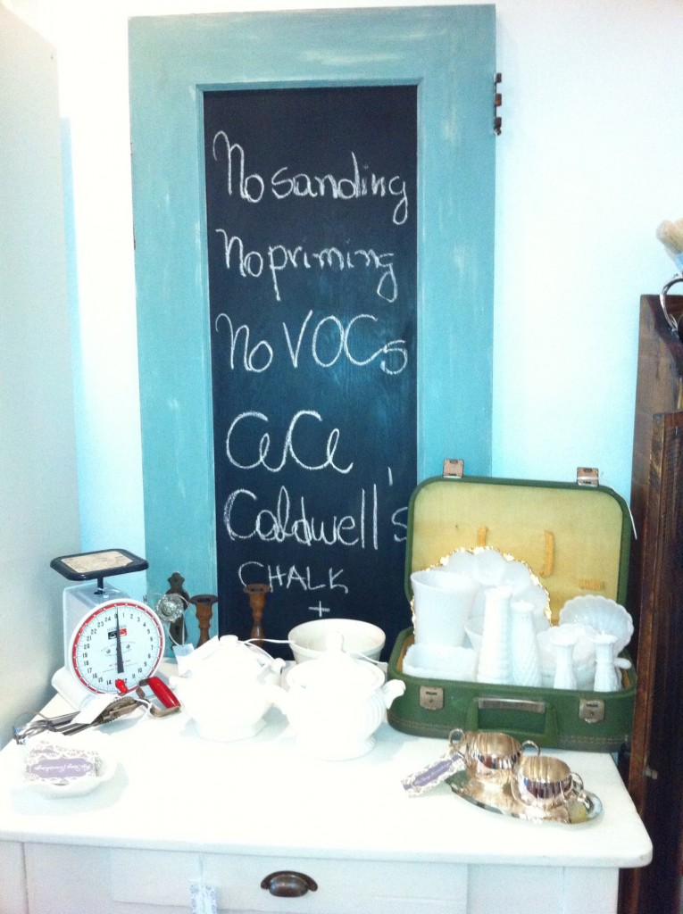 Blackboard and Vintage Items